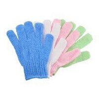 Exfoliating Gloves assorted colors - 2/pk Photo