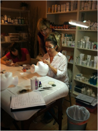 Sandra Prefers Using A Magnifying Lamp To Apply Her Eyelash Extension.