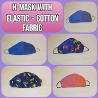 H-Mask with Elastic - cotton fabric Photo