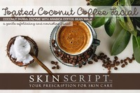 Skin Script Toasted Coconut Coffee Facial Photo